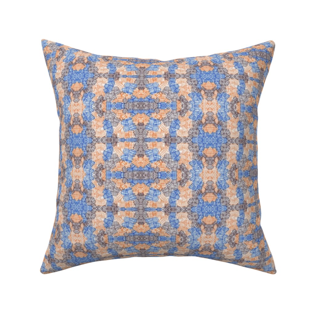 Catalan Throw Pillow featuring Orange and Brown Abstract Texture by careyruhl