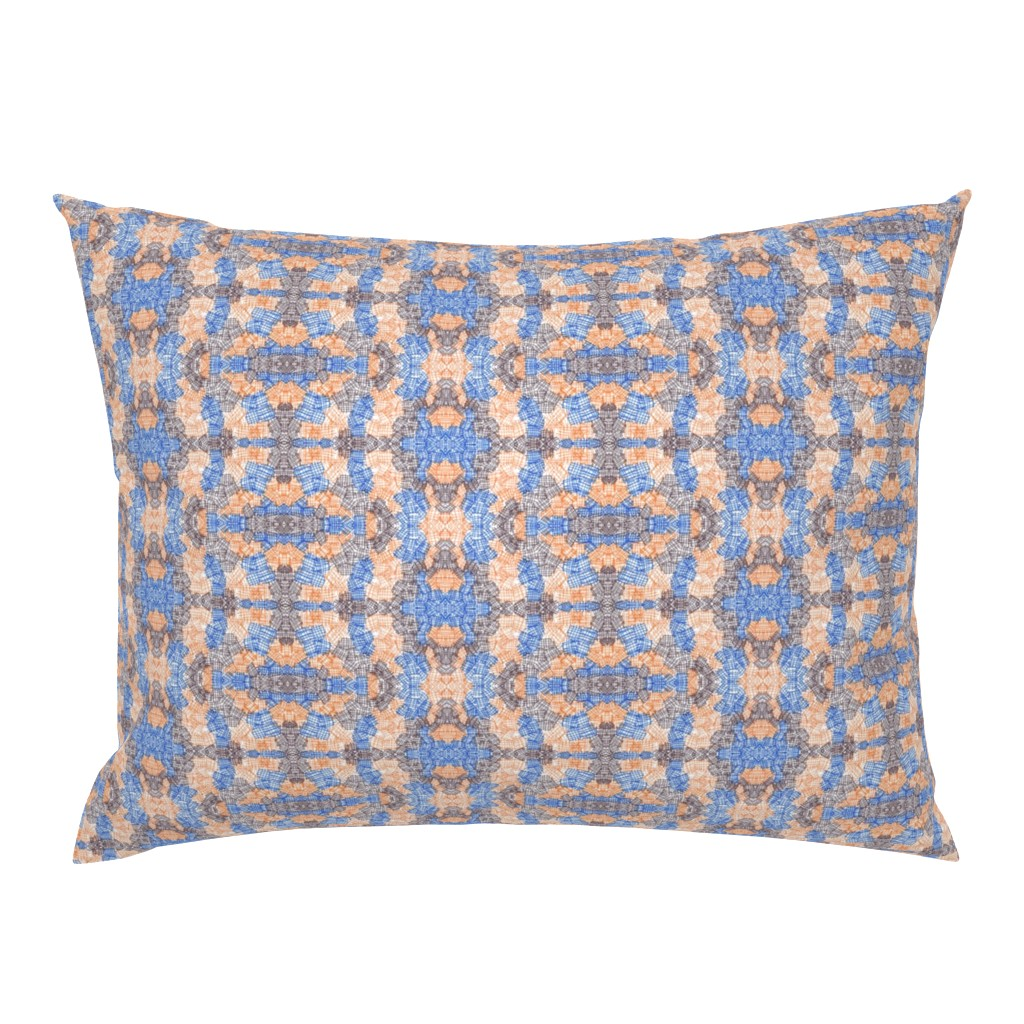 Campine Pillow Sham featuring Orange and Brown Abstract Texture by careyruhl