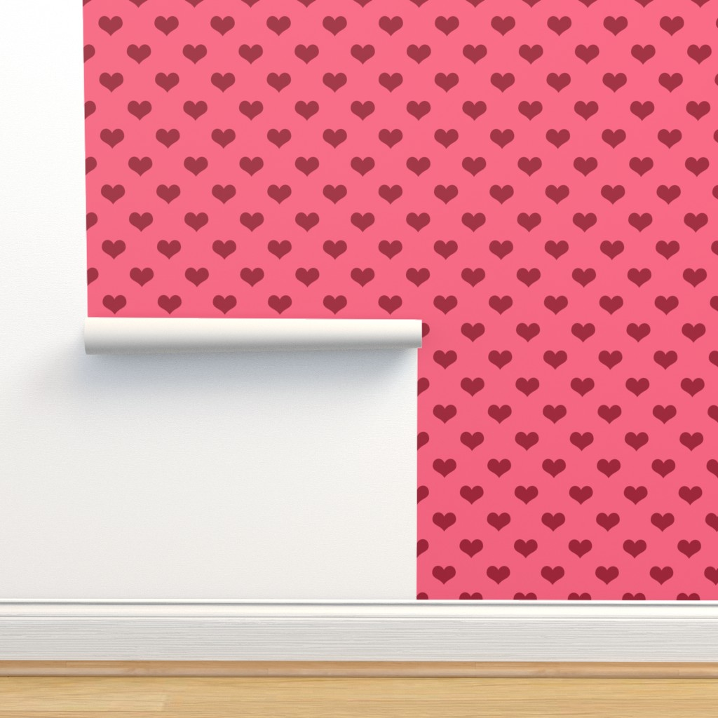 Isobar Durable Wallpaper featuring Pretty Pink and Red Hearts by cherie