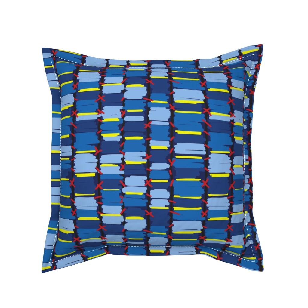 Serama Throw Pillow featuring African_10x10_Swatch_3 by paulin_studio