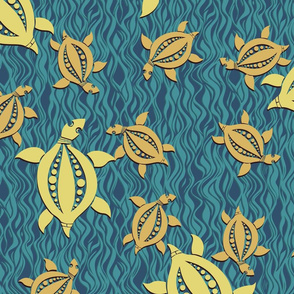 Turtle - dark blue and turquoise