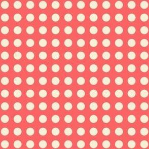 red polka dots