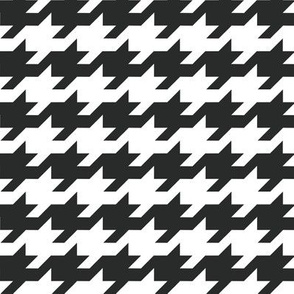 Houndstooth - black and white