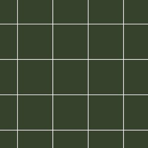 dark green grid on white | pencilmeinstationery.com