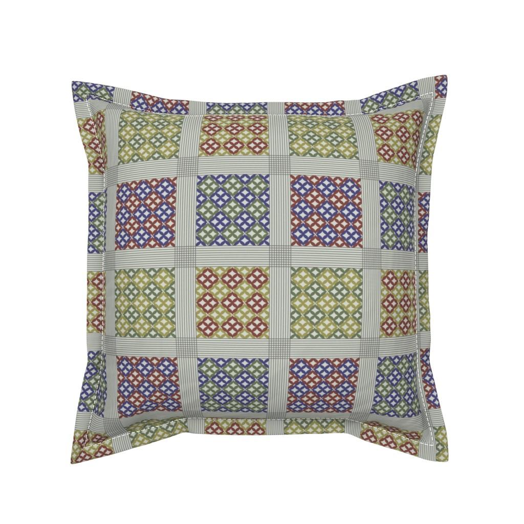 Serama Throw Pillow featuring adinkra by mongiesama
