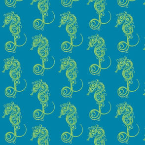 Seahorse7-teal/green