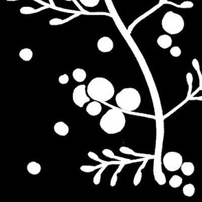 Berry Branches Black
