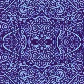 bridal mendhi - blue