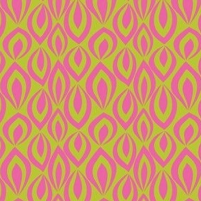 Leafyrific-pink on chartreuse