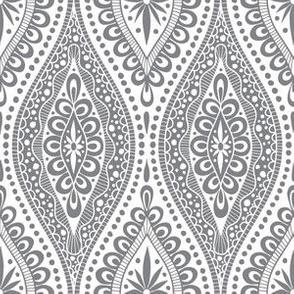 Scallopy-grey on white