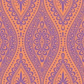 Scallopy-purple on orange