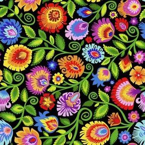 Wildflowers on Black-medium-rotate 90 degrees