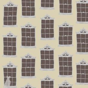 window cats - dustbin_yellow