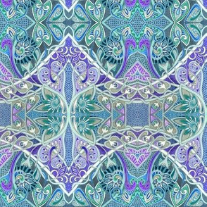 Paisley Make the Heart and Scallop and Dragon Scale Grow Fonder