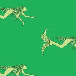 Swimming Mermaids-greens
