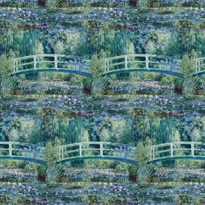 Claude Monet - Water Lilies and Japanese Bridge - SeamlessTile