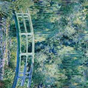 Claude Monet - Water Lilies and Japanese Bridge - 1 Yard border print