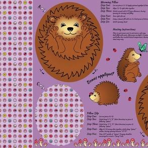 Harper the Hedgehog Cuddly Cushion