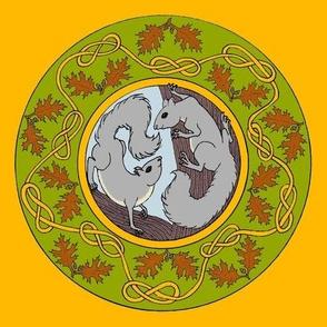 oak and squirrel round