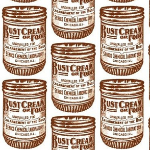 Bust Enlargement Cream 1890's advertisement in sepia