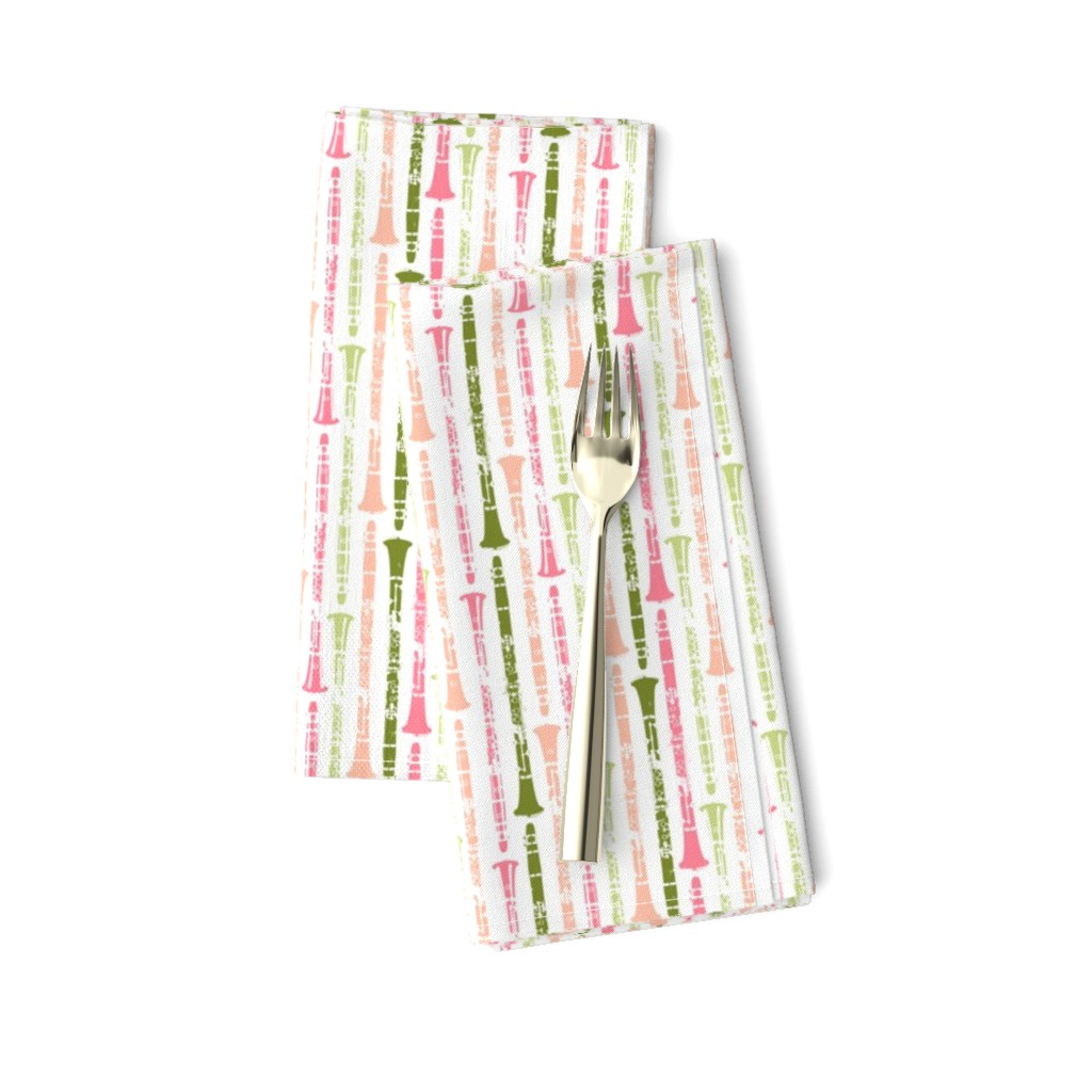 Amarela Dinner Napkins featuring Grunge Clarinets - Shades of Watermelon by hornandcastle