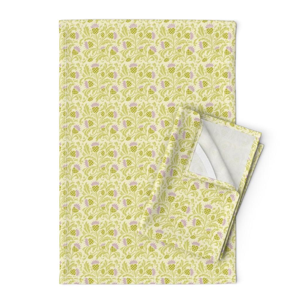 Orpington Tea Towels featuring thistle by cindylindgren