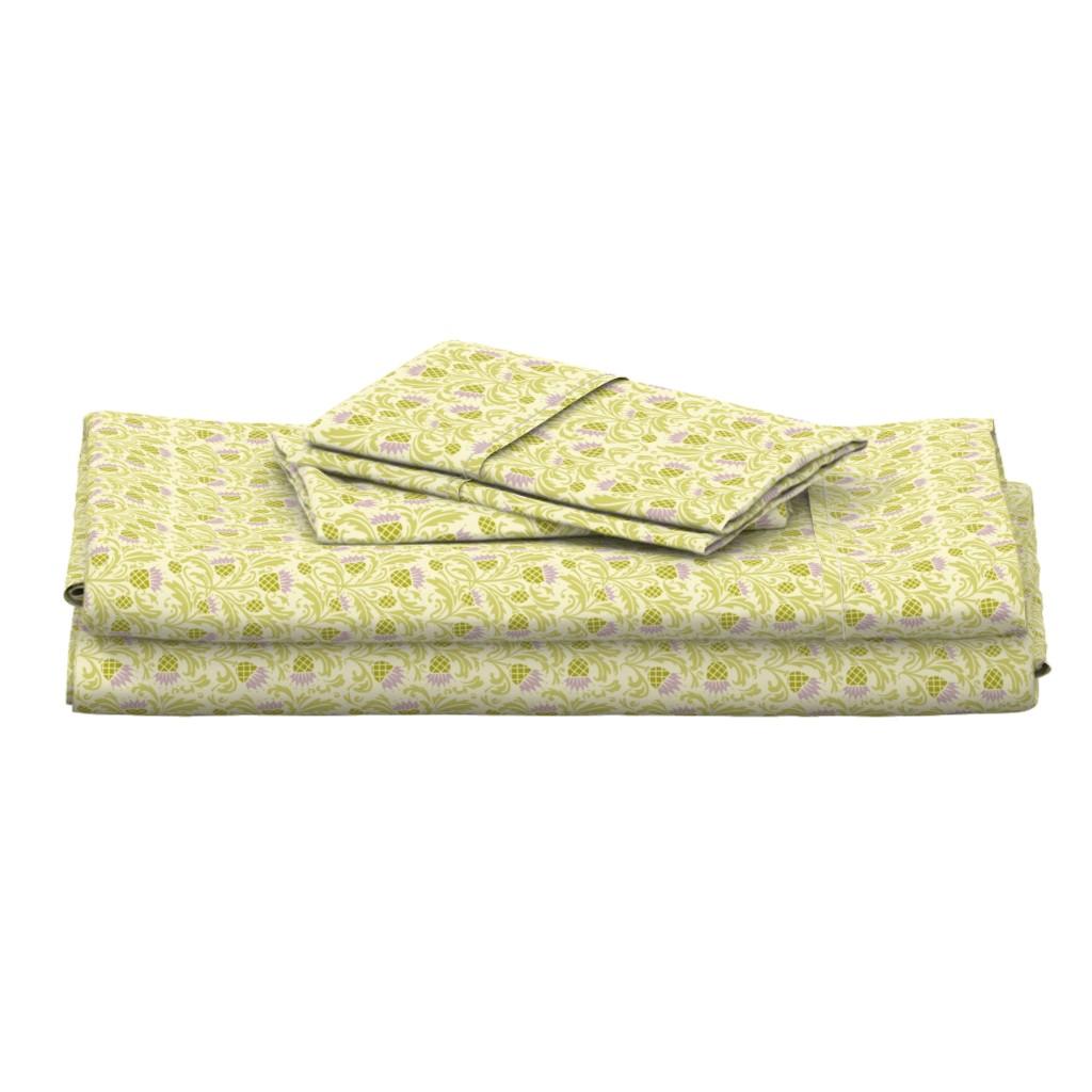 Langshan Full Bed Set featuring thistle by cindylindgren