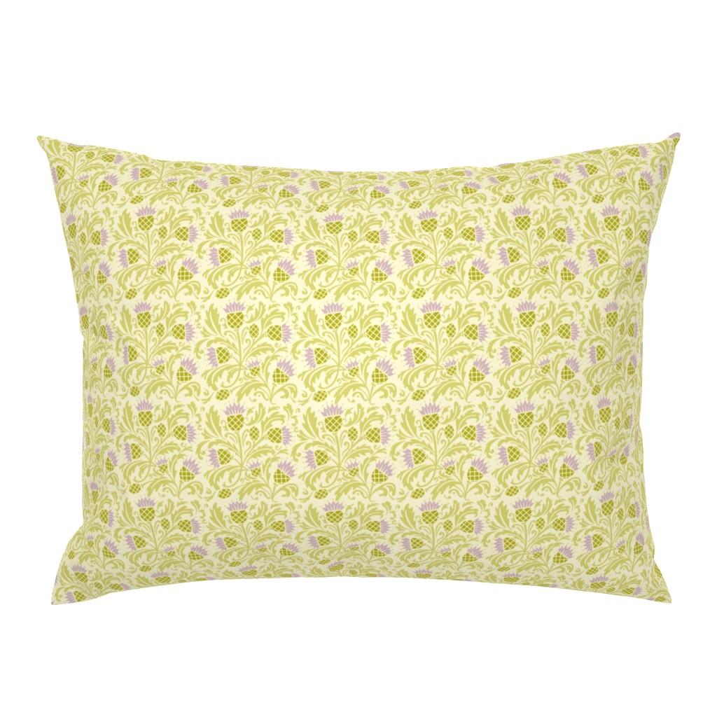 Campine Pillow Sham featuring thistle by cindylindgren