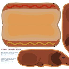 FAT QUARTER Microwavable Body Warmer HotDog Dachshund