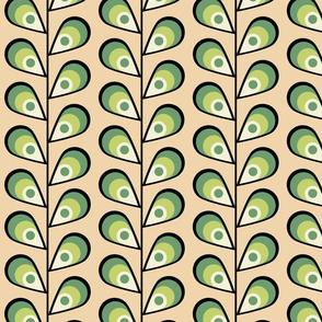 leavespeachandgreen