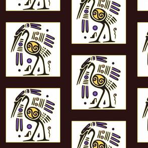 Tribal Heron (black)