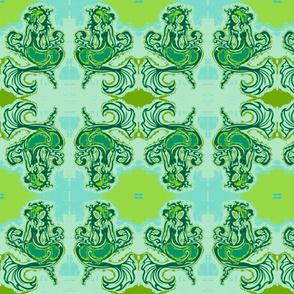 Sitting Pretty Mermaid6-green/blue