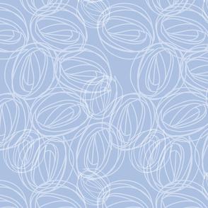 White and Blue rose motif. Copyright LdJ design 2010