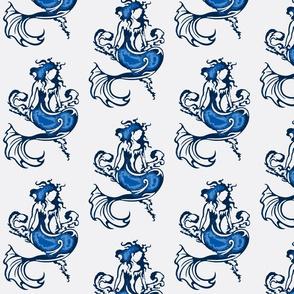 Sitting Pretty Mermaid6-blue/white