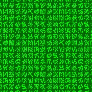 01827398 : alien text : green
