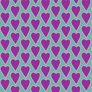 Love explosion sm heart on bluegreen lt-tan lines
