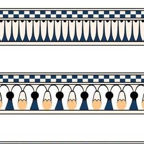 Egyptian Floral Stripe
