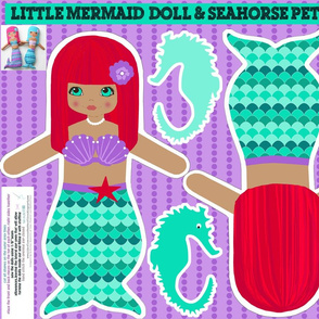 rag dolls: mermaids - cut and sew pattern template