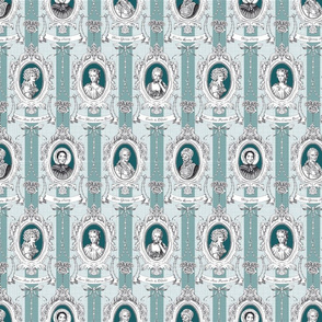 Toile de Jouy - Science Women Teal Small