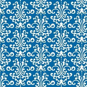damask royal blue