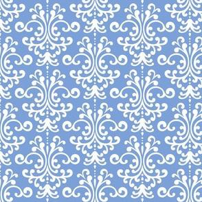 damask cornflower blue