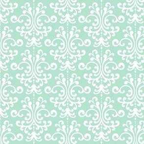 damask mint green