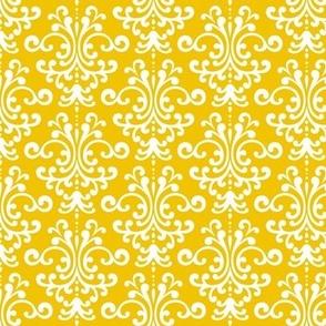 damask mustard yellow