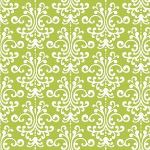 damask lime green