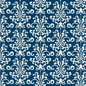 damask navy blue