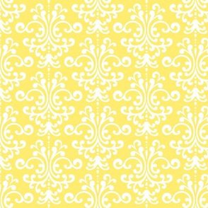 damask lemon yellow
