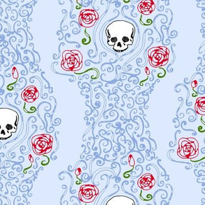Where the Wild Roses Grow (Light Blue)