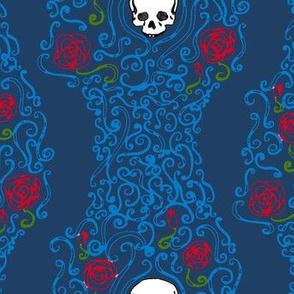Where the Wild Roses Grow (Dark Blue)