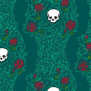 Where the Wild Roses Grow (Dark Green)