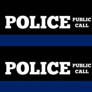 Police Box Signs, Dark Blue Public Call Box Stripe